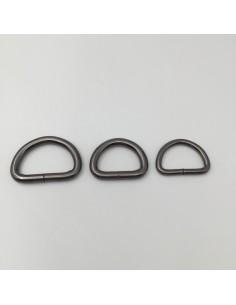D-Ringe Eisen Nickel schwarz