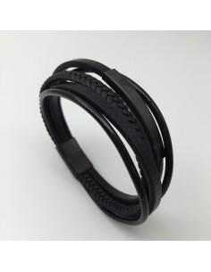 Armband 5-fach schwarz