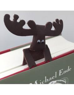 Buchzeichen Elch Weihnacht