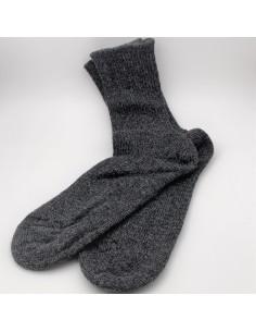 Socken Wolle anthrazit